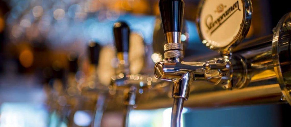 beer taps in a pub located in the North West